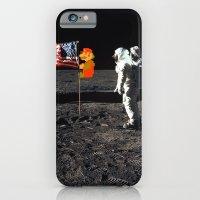 Super Mario On The Moon iPhone 6 Slim Case
