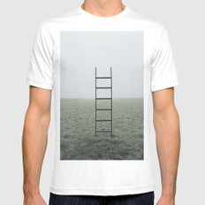 Ladders SMALL Mens Fitted Tee White