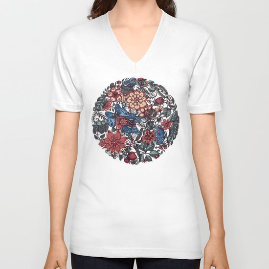 Circle of Friends in Colour V-neck T-shirt