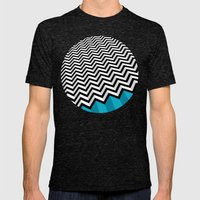 ZIGZAG Mens Fitted Tee Tri-Black SMALL
