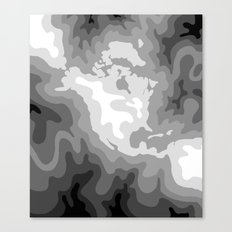 Map of North and Central America : WHITEOUT Canvas Print