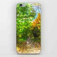 Autumn  Forest Path Art iPhone & iPod Skin