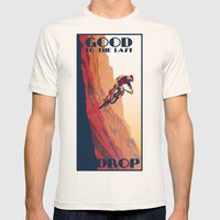 retro mountain bike poster: good to the last drop Mens Fitted Tee Natural SMALL