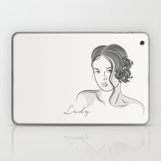 line art Lady Laptop & iPad Skin