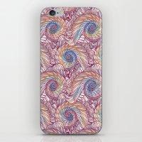 Peacock Swirl - Multi iPhone & iPod Skin