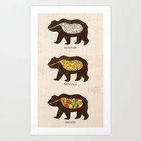 The Eating Habits of Bears Art Print