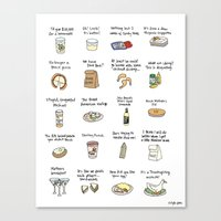 Foods Of Arrested Develo… Canvas Print