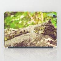 Sleepy Snow Leopard  iPad Case