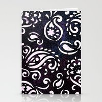 painted paisley Stationery Cards