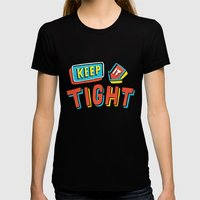 TIGHT Womens Fitted Tee Black SMALL