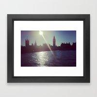 Big Ben Silhouette   Framed Art Print