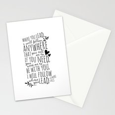 Gilmore Girls Where You Lead theme song  Stationery Cards