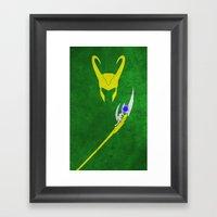 Loki Framed Art Print