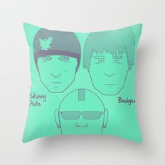 Breaking Bad - Faces - The Crew Throw Pillow