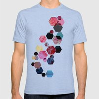 C13 Construct Hex V1 Mens Fitted Tee Tri-Blue SMALL