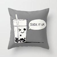 Suck It Up Throw Pillow