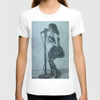Belt It Out Womens Fitted Tee White SMALL