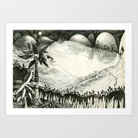 Moon Hunting Art Print