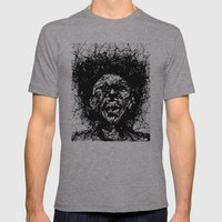 Drip Face Mens Fitted Tee Athletic Grey SMALL