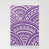 Plum Mandala Stationery Cards