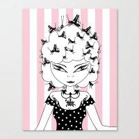 Lady CriCri Canvas Print