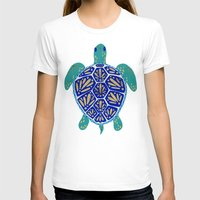 hearts T-shirts featuring Sea Turtle by Cat Coquillette