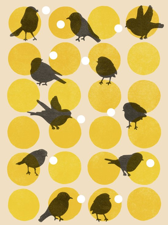 Birdsong Yellow Canvas Print