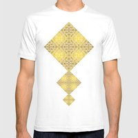 Random Rope On Gold Foil Mens Fitted Tee White SMALL