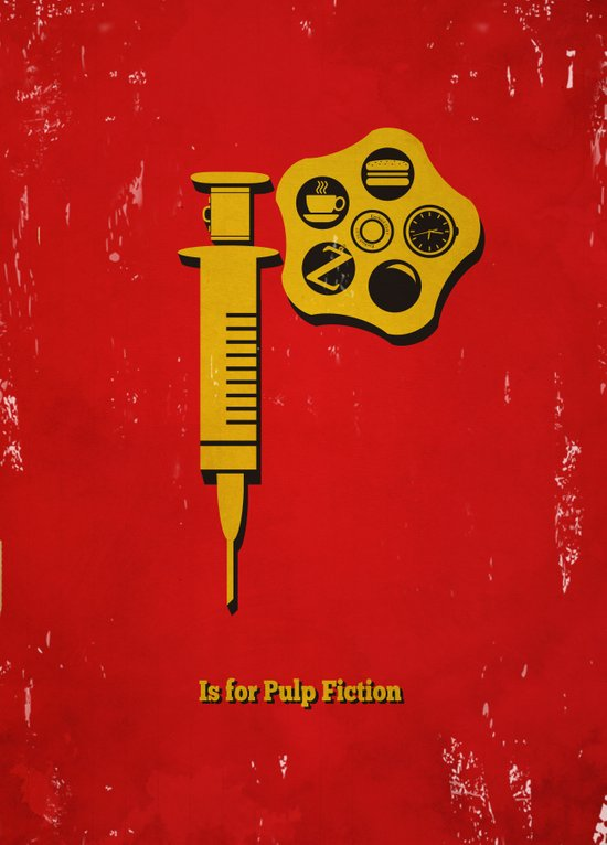 P is for Pulp Fiction Canvas Print