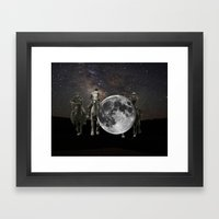 hang the moon Framed Art Print