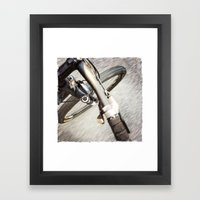 Moving Pavement Framed Art Print