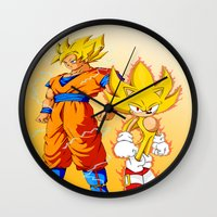 Super Sonic Warriors Z Wall Clock