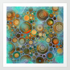 Abstract Circles Pattern Art Print