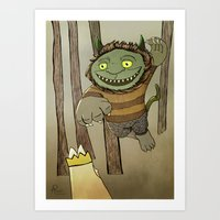 Wild Thing Jumping Art Print