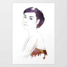Java Hepburn Art Print