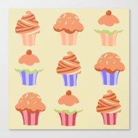 Yummy Cupcakes Canvas Print