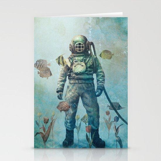 Deep Sea Garden  Stationery Card