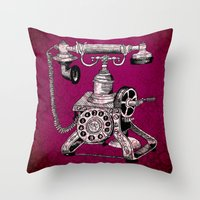 Phone it in.. Throw Pillow