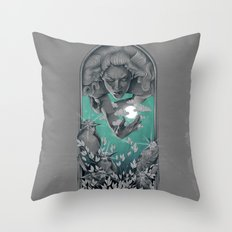 The Bird Keeper Throw Pillow