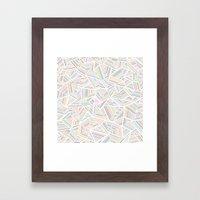 Abstraction Linear Rainbow Framed Art Print