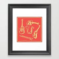 Happy Music Framed Art Print