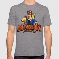Ash Ventura Mens Fitted Tee Tri-Grey SMALL