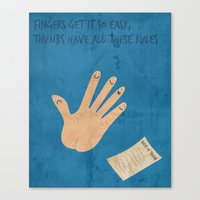 Rules Of Thumb Canvas Print