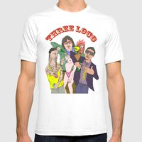 Three Loco Mens Fitted Tee White SMALL