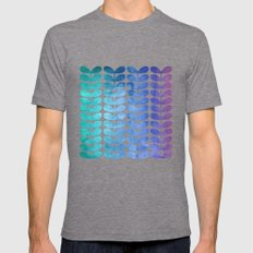 Colorful Leaves from Turquoise to Levender Mens Fitted Tee Tri-Grey SMALL