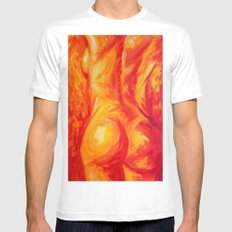 Abstract body Mens Fitted Tee White SMALL