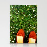 Green Green Grass Stationery Cards