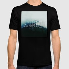 Wanderlust: Columbia River Gorge Mens Fitted Tee Black SMALL