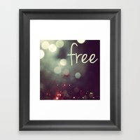 Free II Framed Art Print