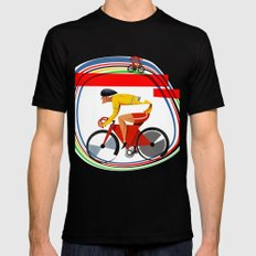 track racer cyclist Mens Fitted Tee Black SMALL